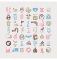 49 hand drawing doodle different icon set sketchy vector image