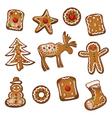 Gingerbread cookie xmas vector image vector image