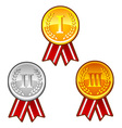 Medals with numbers vector image