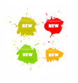 Colorful Business Icons With New Title vector image vector image
