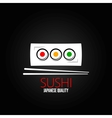 sushi roll plate menu design background vector image