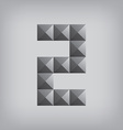 2 number two alphabet geometric icon and sign vector image
