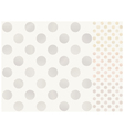 Seamless polka dots with silver gold bronze vector image vector image