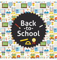 Flat Back to School Background vector image vector image