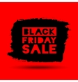 Black Friday Sale grunge stain on red background vector image