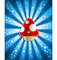 red magic mushroom vector image vector image