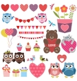 Love theme set vector image vector image