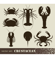 Crustacean set vector image