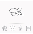 Wind icon Cloud with storm sign vector image