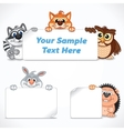 Cute Zoo Animals with Banners and Labels vector image vector image