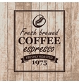 sign for a cafe with coffee grains vector image
