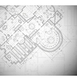 Architectural plan vector image vector image