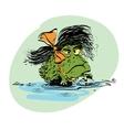 amphibian frog girl vector image