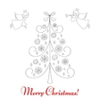 Christmas tree and angels vector image