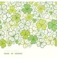 Clover line art horizontal decor seamless pattern vector image