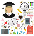 flat of school vector image