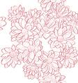 flowers bouquet pattern vector image