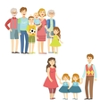 Full Families Posing Together vector image