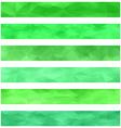 Green banner background set vector image