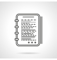 Reporter notes flat line design icon vector image