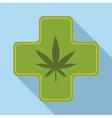 Medical marijuana icon flat style vector image