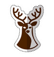 reindeer christmas silhouette isolated icon vector image