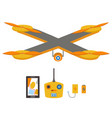 bright quadrocopter remote control navigation vector image