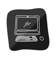 pc technology doodle vector image