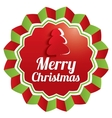 Merry Christmas Greeting sticker Christmas label vector image
