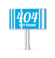 realistic not found concept billboard vector image