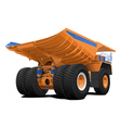 Tipper dumper Dump truck vector image