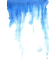 Blue watercolor background vector image