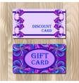 Discount card template with peacock feathers vector image