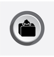 Airport baggage icon Hand luggage sign Traveling vector image