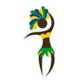 figure silhouette woman brazilian vector image