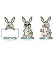 Light Green Bunny happy vector image
