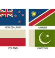 national flags symbol eps 10 vintage vector image