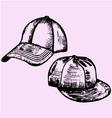 realistic baseball cap vector image