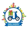 scooter delivery logo vector image