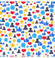 seamless pattern with speech bubbles likes vector image