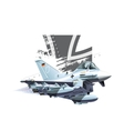 Cartoon Military Airplane vector image vector image