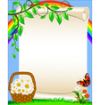 Spring Floral Background vector image vector image
