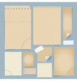 Collection of various old papers paper sheets note vector image