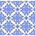 blue background decorative floral pattern vector image