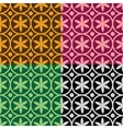 seamless pattern with flowers and circles vector image vector image