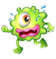 A green monster escaping vector image