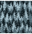Heavy snow in the pine forest vector image vector image