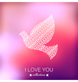 dove Valentines Day background Pigeon Blurred vector image