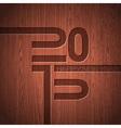 Engraved 2015 Happy New Year typographic design vector image