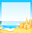 View of the beach vector image